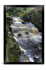 Lumsdale Valley Falls, Framed Print