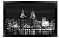 Liverpool at night, Framed Print
