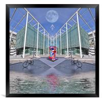 Imperial College Flood digital art, Framed Print