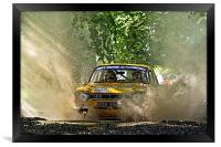 Ford Escort Rally Car, Framed Print