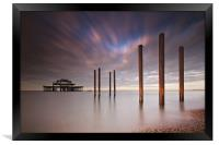 West Pier Remains, Framed Print