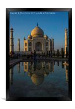 The Taj Mahal at Dusk, Framed Print
