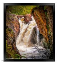 Waterfall - River Nevis, Framed Print