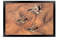 2 F16 and one F15 Israeli Air Force fighter jets, Framed Print