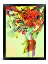 floral abstract, Framed Print