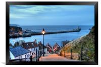 Whitby After Sun Down, Framed Print