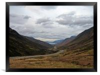 Glen Docherty, Scottish Highlands, Framed Print
