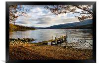 Old Wooden Jetty on Loch Arkaig, Framed Print