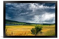 Storm Clouds and Sunbeams, Framed Print