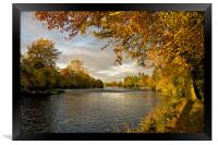 Autumn by the River Ness, Framed Print