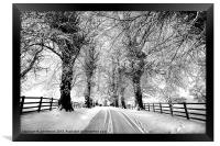 A Cold Winters Day, Framed Print