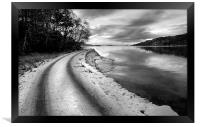 A Drive By The Loch, Framed Print