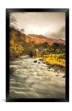 River Eamont, Howtown, Cumbria., Framed Print