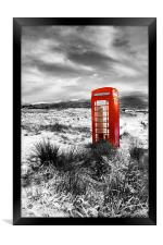 The British  Phone  Box, Framed Print