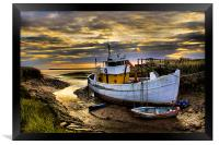 south ferriby boat, Framed Print