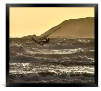 Windsurfing off Marazion Bay, Framed Print