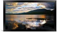 Loch Tulla At Sunset, Framed Print