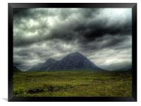 Stormy Clouds Over Glen Coe, Framed Print