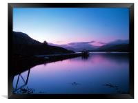 Loch Leven Sunset, Framed Print