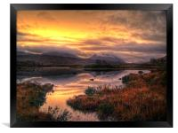 Golden Sunrise Over Loch Ba, Framed Print