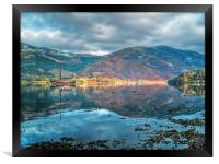 Wooden Sail Boat On Loch Leven, Framed Print