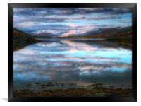 Morning Reflections On Loch Leven, Framed Print