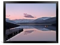 Winters Sunset On Loch Leven, Framed Print