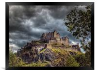 Edinburgh Castle Scotland, Framed Print
