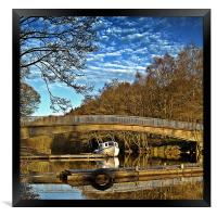 Bride Reflections on Loch Earn., Framed Print