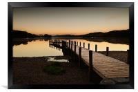 Dawn over Coniston Water, Framed Print