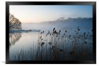 Reeds and boats at The Eels Foot, Framed Print