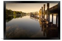 Jetty at Coniston, Framed Print