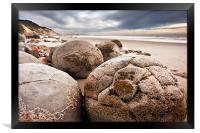 The Moeraki Boulders, Framed Print