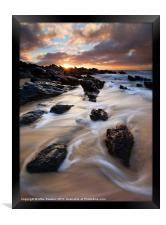 Surrounded by the Tides, Framed Print