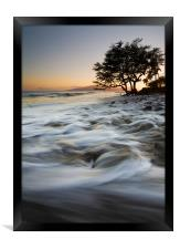 Alone Against the Sea, Framed Print