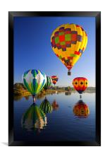 Balloons Reflections, Framed Print