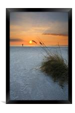 A walk on the Beach, Framed Print
