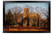 Edgefield Church - Colour, Framed Print