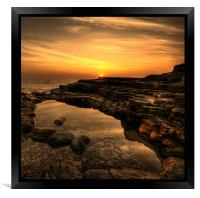 Rockpool Sunrise, Framed Print
