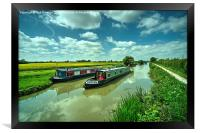 Narrowboats on the K and A , Framed Print