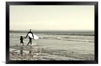 Dad and son, Framed Print