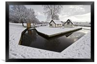 Coltishall Boat Houses in Winter, Framed Print