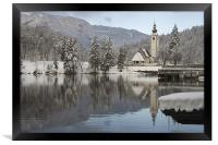 Icy reflections, Framed Print