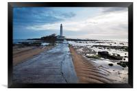 Saint Marys Lighthouse at Whitley Bay, Framed Print