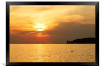 Sunset over Trieste Bay, Framed Print