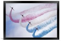 The Red Arrows at Farnborough Airshow, Framed Print