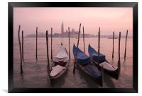 Venetian sunset, Framed Print