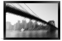 Bridge abstraction, Framed Print