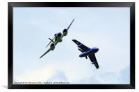 Gloster Meteor and Hawker Hunter, Framed Print