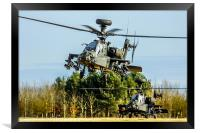 Two AH64 Apache helicopters, Framed Print